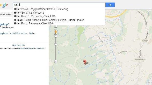 Google-Maps führt zum \