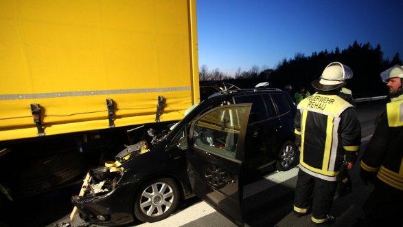 Schwerer Verkehrsunfall auf der A93 bei Rehau - Region - nordbayern.de
