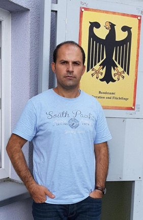Murat Akgül (35) im Zirndorfer Bundesamt für Migration.