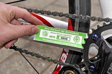 Fahrrad polizeilich registrieren