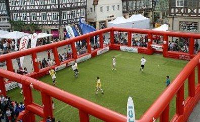 Forchheim Der Paradeplatz Als Riesiges Fussballfeld
