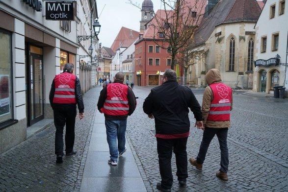 NPD paramilitarists in Amberg, Gemany